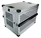 Impact Collapsible, Durable Aluminum Dog Crate (Large (35' L...