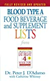 Blood Type A Food, Beverage and Supplement Lists (Eat Right 4 Your Type)