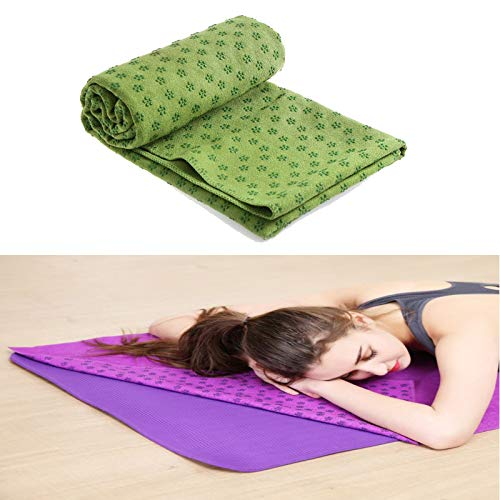 Lumanby Toalla de yoga Esterilla antideslizante Yoga Cojín PVC Plum Pilates Mantas Fitness Blossom Dot Yoga Cojín 72x24 pulgadas