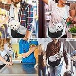 You Pet Dog Sling Carrier, Breathable Mesh Travelling Pet Hands-Free Sling Bag Adjustable Padded Strap Front Pouch Single Shoulder Bag for Dogs Cats 13