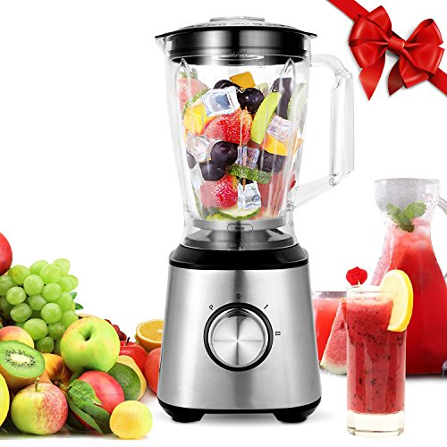 Meykey Smoothie Blenders, Countertop Blender 800W for Shakes and Smoothies with BPA Free Blender Jar 2-Speed Control,1.5l