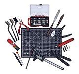 Set di utensili per la stampa 3D: sbavatura, accessori per la stampa, tappetino da taglio, aghi per la pulizia, coltelli di precisione, spazzole metalliche, pinze 3DLAB EUROPE