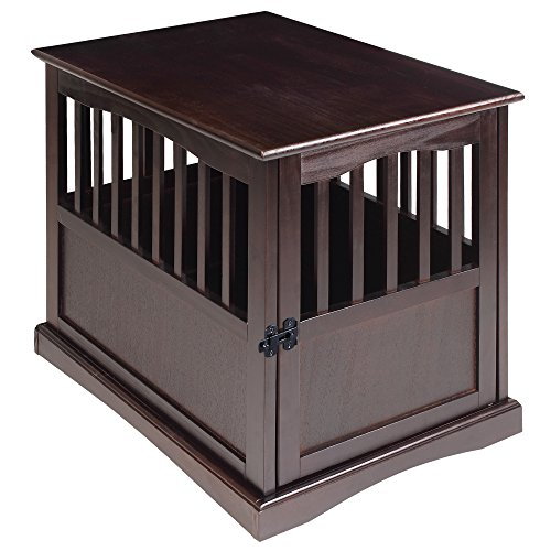 Casual Home Wooden Medium Pet Crate, End Table, Espresso