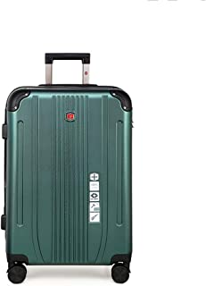 SMLCTY Cabin Case,cabin Luggage,ABS+PC Zipper Waterproof and Scratch-Resistant Lightweight Portable Silent Universal Wheel (Color : Green, Size : 24 inch)