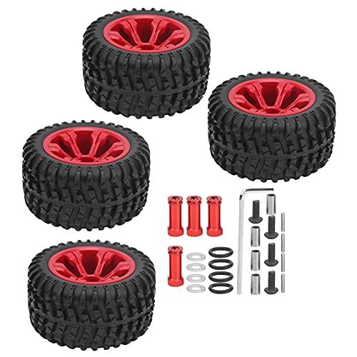 WYDM Neumático de Goma para Coche RC, ¿Desgaste de neumáticos de Goma Modificado Mejorado por RC? Juego de Ruedas Resistentes para Coches remotos