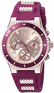 Invicta Women's 'BLU' Quartz Stainless Steel and Silicone Casual Watch, Color:Two Tone (Model: 24188)