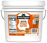 Once Again Natural, Creamy Peanut Butter, 9lb Bucket - Lightly Salted, Unsweetened - Gluten Free Certified, Vegan, Kosher, Non-GMO Verified