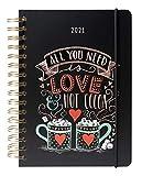Grupo Erik Terminkalender Lily & Val - Kalender für 2021 A5 - Planer mit Wochenansicht, ASVA52112