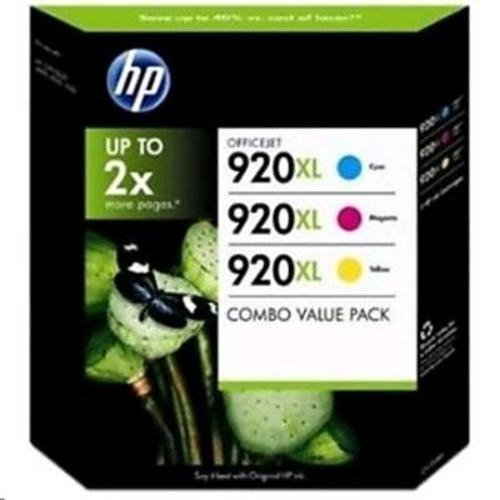 HP 920XL 3-Pack - Cartucho de Tinta para impresoras (Cian, Magenta, Amarillo, -HP Officejet 6500, Inyección de Tinta, 5 - 80%, 5 - 40 °C, -40 - 70 °C)