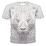 Mr.BaoLong&Miss.GO T-Shirt da Uomo con Lupo Creativo T-Shirt da Coppia T-Shirt A Maniche Corte in Maglia Creativa Moda