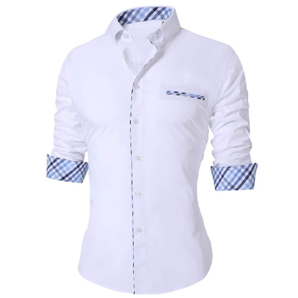 YAYLMKNA Camisa Hombres De La Camisa De Los Hombres Delgados del Verano De Manga Larga Tamaño Transpirable Oficina Vestido Camisas Hombres, XXL: Amazon.es: Deportes y aire libre