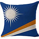 Kissenbezug Flagge der Marshallinseln, lustige Dekoration, doppelseitig, 45 x 45 cm, Kissenbezüge für Sofa, Couch, Stuhl, Farbe: Marshall-Inseln