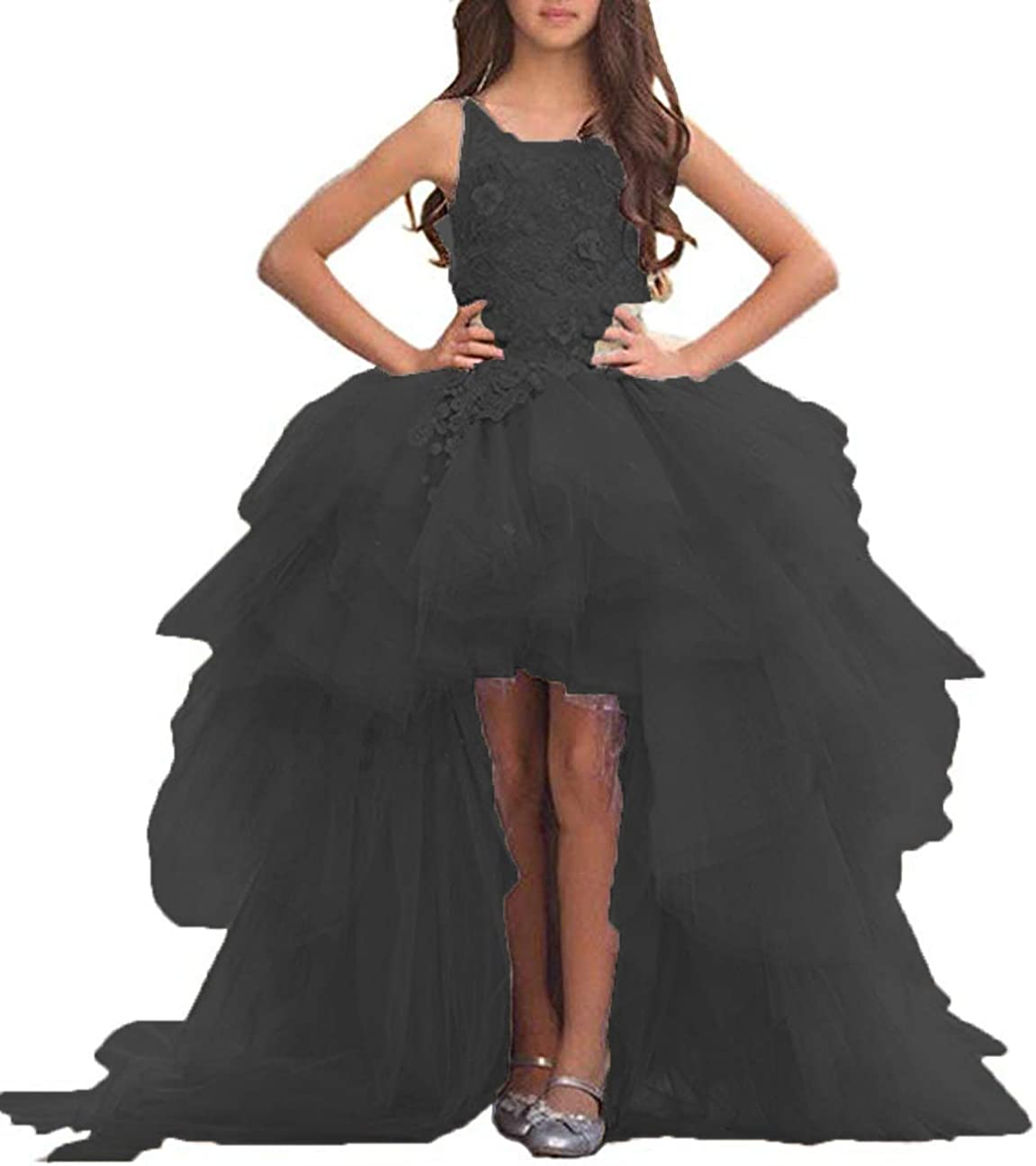 Adela Richer Girls' Lace High Pageant New Shipping Free Neck Go Bombing free shipping Ball Dresses