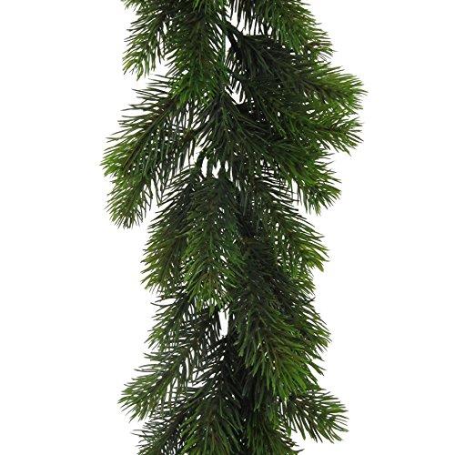 Künstliche Tannengirlande ca 180 cm (170 cm). Mit ca 168 Tannen- Trieben.