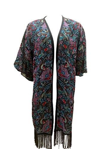 Sugar Crisp - Camisola - Kimono - Floral - Manga Larga - para Mujer Estampado Floral Small/Medium