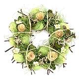 Osterkranz, Blütenkranz, Türkranz, Dekokranz, Natur, Kranz, Ostereier, Ø ca.26cm