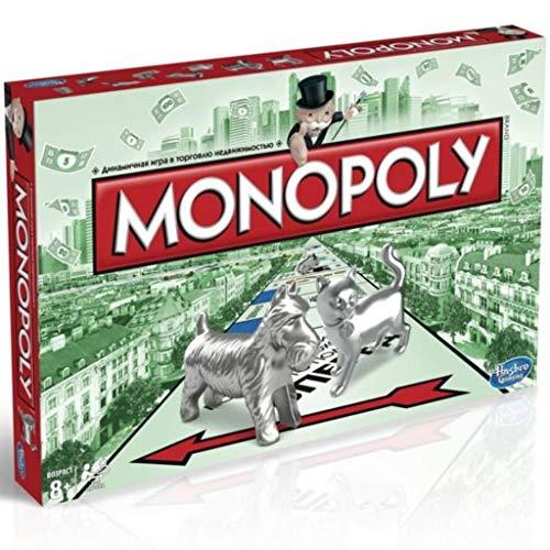 Hasbro Monopoly Classic - Монополия russische Version in russischer Sprache und kyrillischer Schrift, Keine deutschsprachige Version !