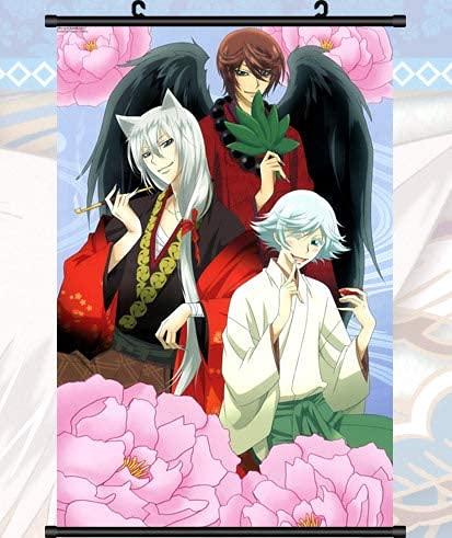 DDMMLKP Pittura di Scorrimento Anime Kamisama Hajimemashita Tomoe Bacio Pittura su Stoffa Anime Home Decor Poster a Rotolo per Decorativi 23.6x35.4 Pollici