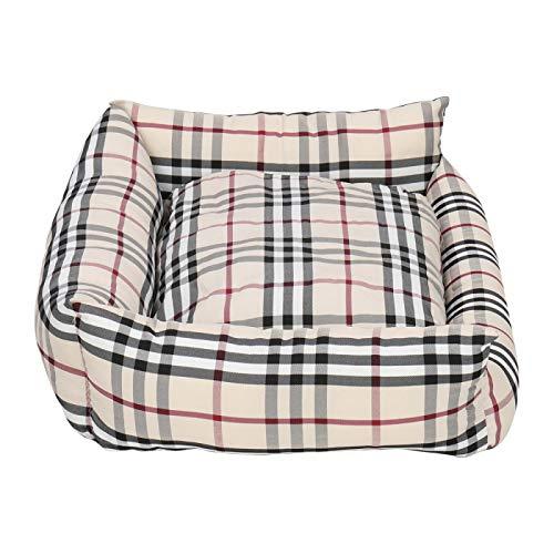 Mascotas más cómodas 2 en 1 portátil cama de gato cama de perro multifuncional cama extraíble cojín para perro y gato caqui