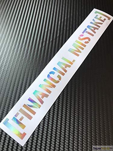SUPERSTICKI Financial Mistake Oil Slick Folie Hologramm Auto Tuning Aufkleber ca 20cm Autoaufkleber