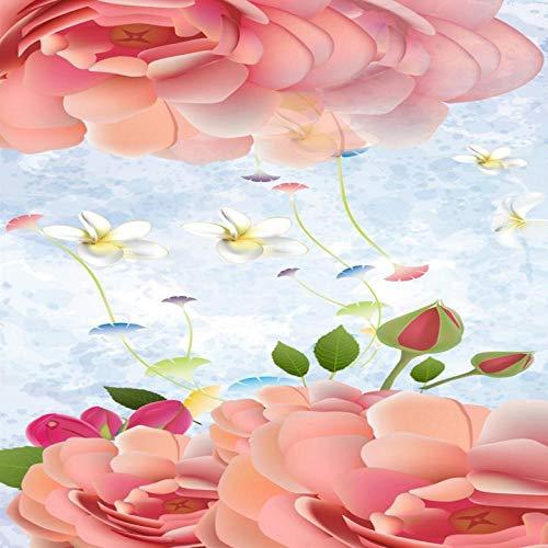 Pbbzl fotobehang, personaliseerbaar, motief: pioenrozen, wanddecoratie, woonkamerdecoratie 150 x 120 cm