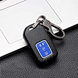 ontto - Carcasa para llave con mando a distancia para Honda Accord 9 Crider City Vezel Spirior Odyssey Civic Jazz HRV CRV Fit Freed Jade de ABS, funda protectora para llave de 4 teclas negro y azul B