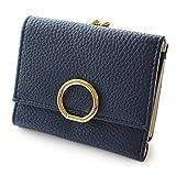 [ジュエルボックス] JewelVOX 財布 ウォレット レザー サークルモチーフ 合皮 ワンタッチ がま口財布 ミニ小さい シンプル ネイビー 選択