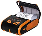 Rongta Portable Receipt Printer Mini 80mm Mobile POS Direct Thermal Printer with Bluetooth+USB, Compatible with iOS, Android, Windows, Do Not Square, Orange, RPP300