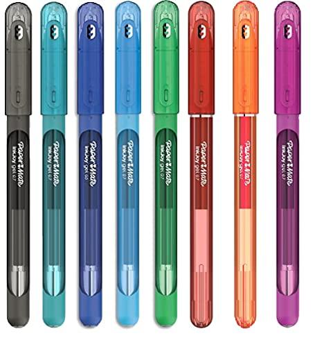 Papermate InkJoy - Bolígrafos de gel (0,7 mm, 8 unidades), multicolor