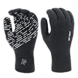 Hot Shot Men's Waterproof Fishing Gloves with Textured Grip Palm – Breathable Touchscreen Compatible Gloves