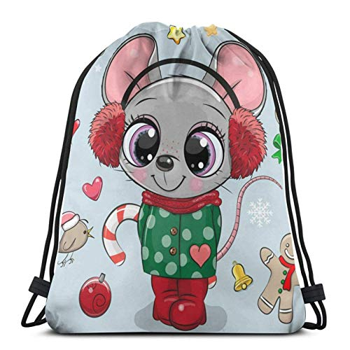Lsjuee Chica de ratón de Dibujos Animados con un Abrigo y Auriculares...