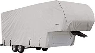 Goldline Fifth Wheel Trailer Covers by Eevelle | Waterproof Fabric | Tan and Gray