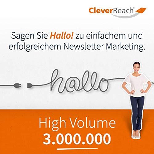 CleverReach Newsletter Software, Email Marketing Automation, High Volume Tarif 3.000.000, Web Browser, Kostenfreies Probeabo