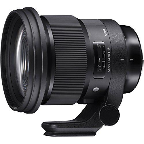 Sigma 105 mm F1,4 DG HSM Art Lens, 105 mm Filterschroefdraad, voor Canon Objectiefbajonet. Zwart