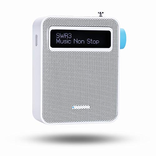 Blaupunkt PDB 100 Steckdosen Radio DAB + | Digital Radio für die Steckdose | UKW Radio | Bluetooth | DAB Plus | RDS Senderinformation | USB Ladefunktion | Senderspeicher | Teleskopantenne | Weiß