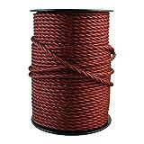 smartect Lampenkabel aus Textil in der Farbe Bordeaux - 5 Meter Textilkabel - 3-Adrig (3 x 0.75mm²) - Textilummanteltes Stromkabel für DIY Projekt