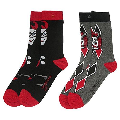 Suicide Squad Y1H414 – Harley Quinn Damen-Socken, 2 Stück, Einheitsgröße