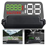 5.5' HD Universal Car HUD Head Up Display Digital GPS Speedometer Windshield Projector with MPH Speed Alert Voltage Alarm Distance Direction for All Cars Truck Motorcycle ATV Pick-up Scooter Golf Cart