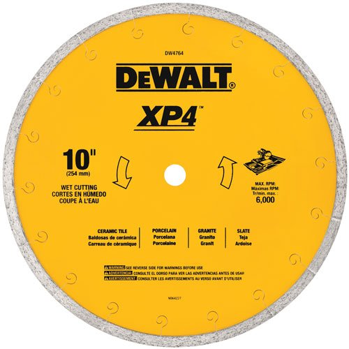 DEWALT Diamond Blade for Tile, Wet Cutting, 10-Inch x .060-Inch...