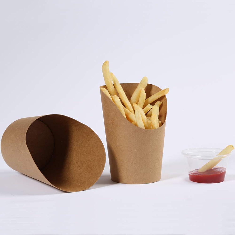 calidad auténtica Cuenco - Taza de de de Papel Kraft Papas Desechables Taza de Helado Taza de Papel de Helado de Huevo Taza de Pollo Frito [100 Pack] Tableware (Tamao   Metro)  ordenar ahora