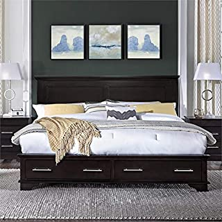 Hawthorne Collections Queen Storage Platform Bed in Java
