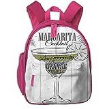 Kids School Backpack for Boys and Girls,Ingredients Of Margarita Sketch Lime Juice Liqueur Orange...