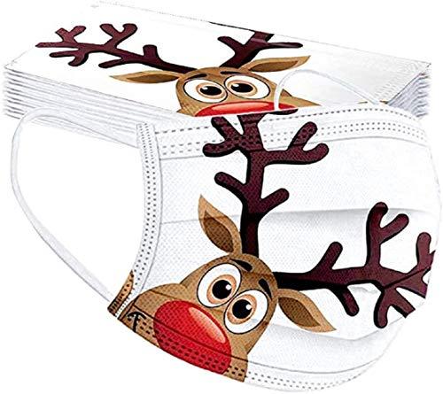 Chigga Modedruck Vliesstoff, personalisierte Weihnachtsatmosphäre Druck Dekoration Zubehör, bietet starken Gesundheitsschutz, geeignet für Erwachsene Gesichter (20 * Weihnachtsstil)