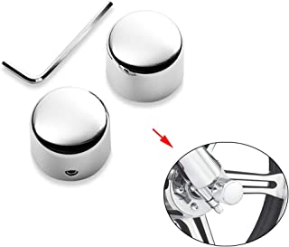 XMT-MOTO Chrome Front Axle Nut Covers Fits 2002-2011 VRSC, 2015-later XG,2008-later XL, 2008-2017 Dyna, 2007-later Softail and 2008-later Touring and Trike models(Replace Part Number 44117-07A)