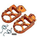 DLYDSS Foot Pegs Reposapiés Estriberas Restos De Pedal For KTM SX SXF EXC EXCF XC XCF XCW XCFW 65 85 125 150 250 350 450 530 Aventura 98-2.016 ZJZJD (Color : Orange)