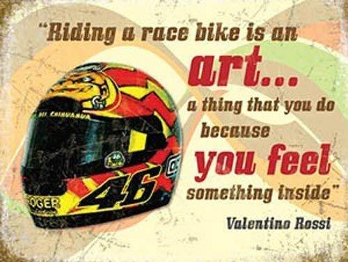 Valentino Rossi Casque, Moto Vélo Course Quote-Parent - 9 x 6.5 cm (Magnet)