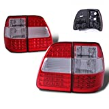 SPPC Red/Clear LED Tail Lights G2 Assembly Set For Toyota Land Cruiser- (Pair) Driver Left and Passenger Right Side Replacement