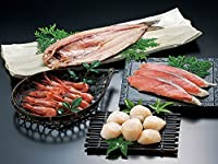 3つの海のうまいもの詰合せ (開きほっけ 時鮭切り身 ほたて貝柱 甘エビ 計4種類)【出荷元:北海道四季工房】