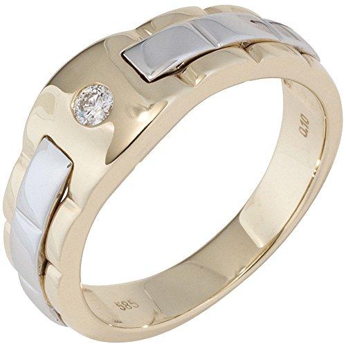 Schmuck-Krone - Goldschmuck Hombre  585  oro bicolor 14 quilates (585)    blanco diamante