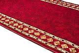 WE LOVE RUGS CARPETO Läufer Teppich Flur - Modern Muster - Rückseite aus Gummi Anti-Rutsch - Kurzfloor Teppichläufer nach Maß - Gel-MAX Kollektion Weinrot 80 x 350 cm - 7